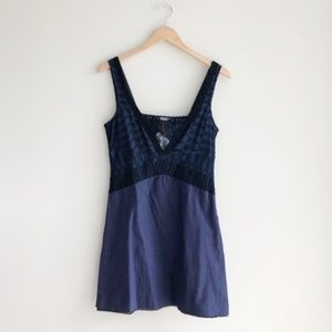 Free People Lace Blue Intimates Slip Dress 6 NWT